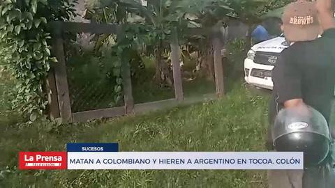 Matan a colombiano y hieren a argentino en Tocoa, Colón