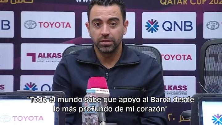 Xavi Hernández niega que esté en negociaciones con el Barça