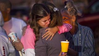 Vigil in memory of Jennifer Ratay