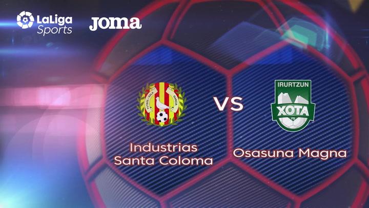 LNFS. Jornada 3: Industrias Santa Coloma - Osasuna Magna (0-5), Temp 2019-2020
