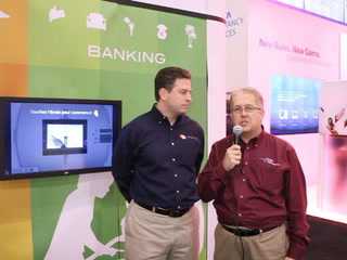 NRF 2012: Interactive signage with a brand focus