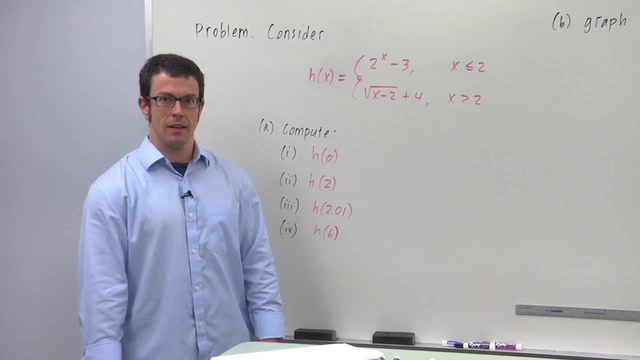 Domain Restrictions and Functions Defined Piecewise - Problem 3
