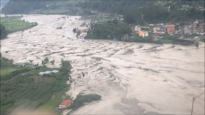 Monsoon rain triggers landslide and flooding in Nepal