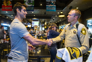 Golden Knights Hold Private Practice, Lunch for 1 October First Responders – Video