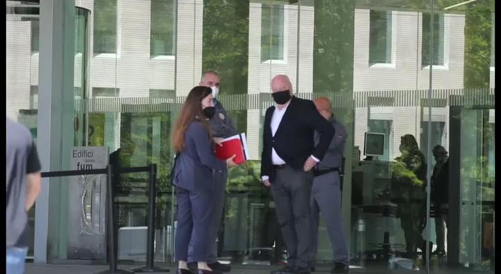 Joan Soteras declara en el Juzgado de Barcelona