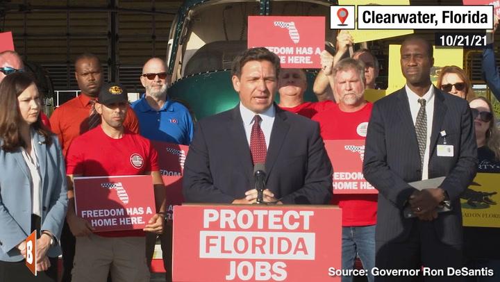 Ron DeSantis Calls Special Session to Take Legislative Action Against Vaccine Mandates