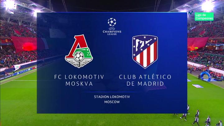 Champions League: Resumen y Goles del Partido Lokomotiv Moscú-Atlético