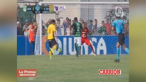 Marathón rescata el invicto de local en el último segundo ante Real España
