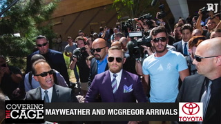 Covering the Cage: Mayweather and McGregor arrive in Las Vegas