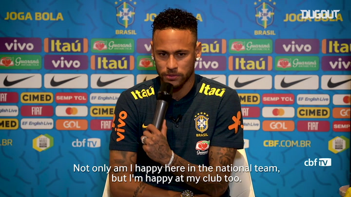 Neymar happy at PSG and in national team