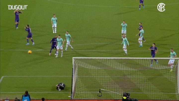 Samir Handanović's stunning save against ACF Fiorentina