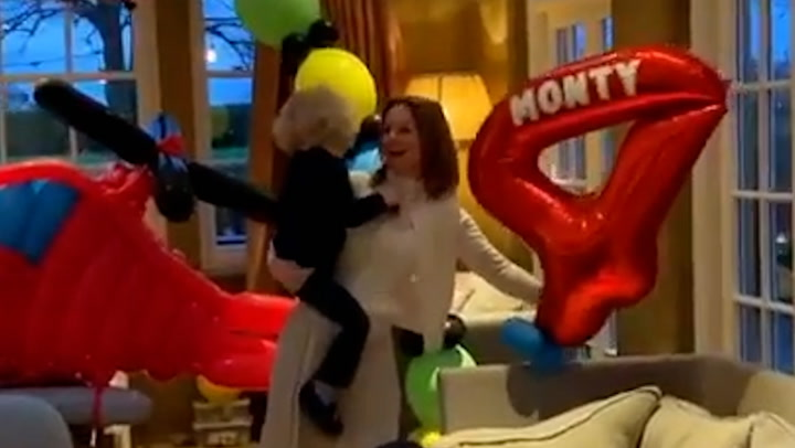 Geri Horner transforms home for son Monty\'s birthday