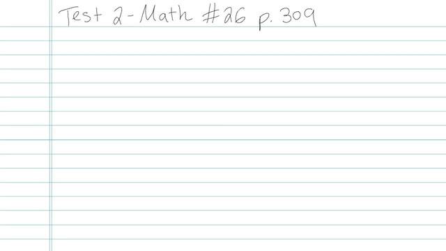 Test 2 - Math - Question 26