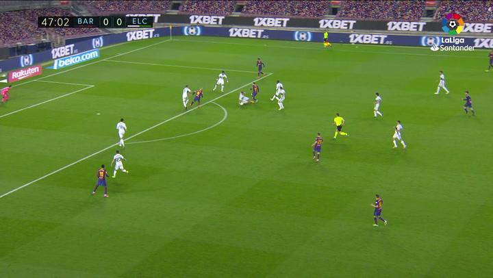 Gol de Messi (1-0) en el Barcelona 3-0 Elche