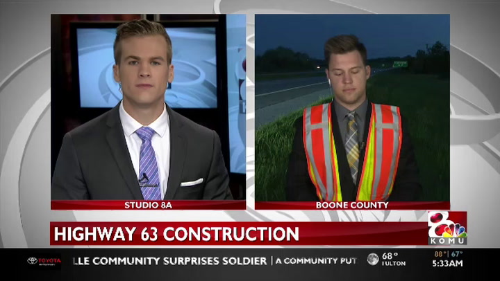More road construction on Highway 63 begins Monday