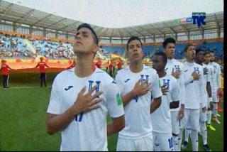 Así se cantó el himno nacional de Honduras en su partido de debut ante Nueva Zelanda en el Mundial Sub20