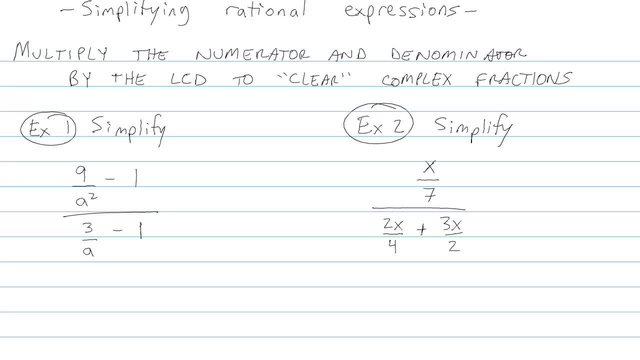 Simplifying Rational Functions with Factoring and GCFs - Problem 14