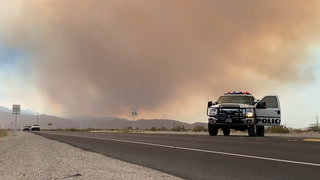 Wildfire on Mount Charleston closes roads – VIDEO