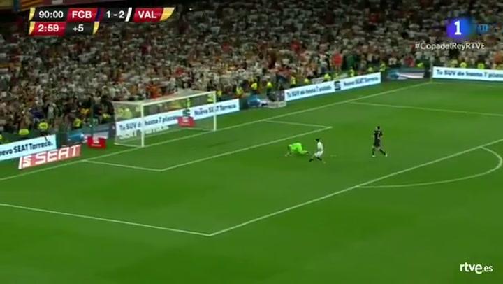 Copa del Rey: Barça-Valencia. Ocasión de Guedes