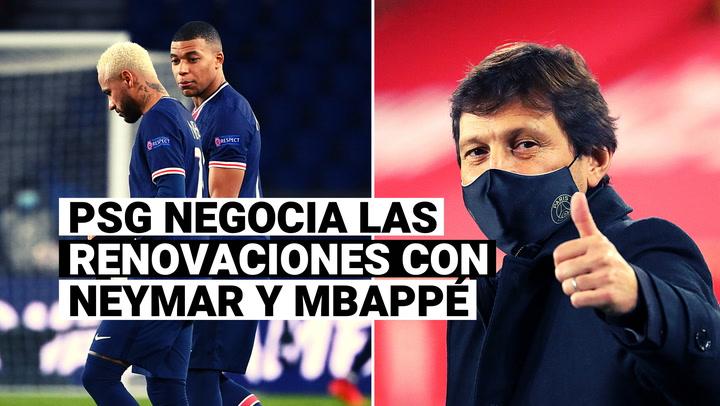 Neymar y Mbappé viven situación diferente con miras a la renovación de contrato con PSG