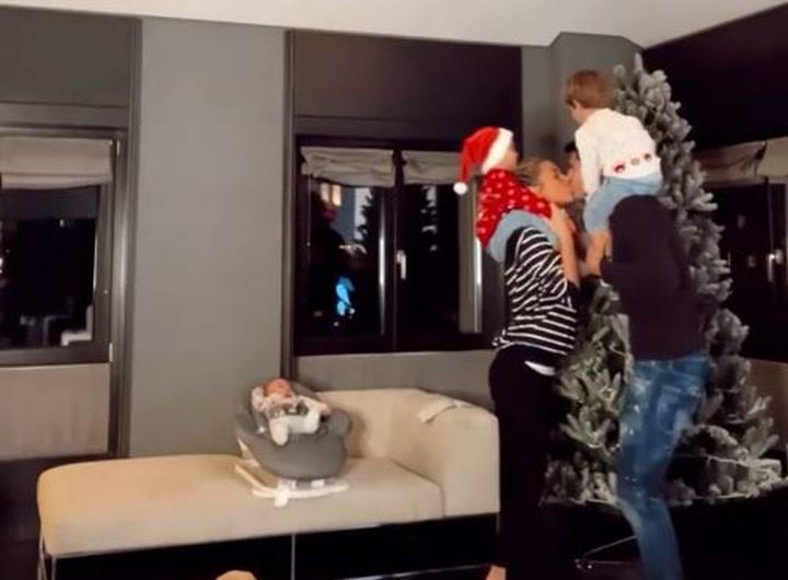 El tierno vídeo de la familia Morata poniendo el árbol de Navidad