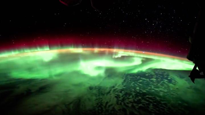 Slik ser det vakre sørlyset ut for astronautene
