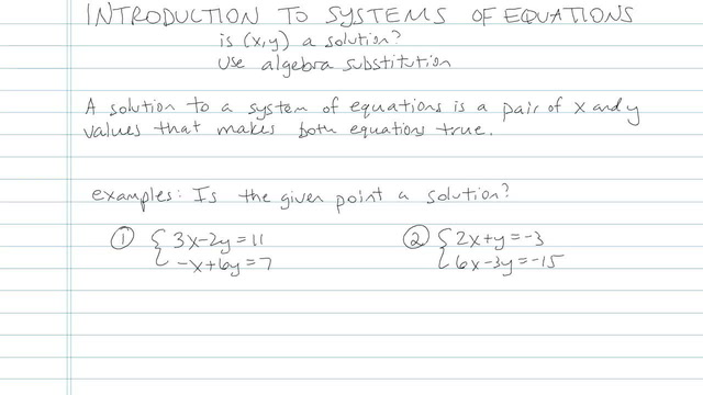 Introduction to Systems of Equations - Problem 5