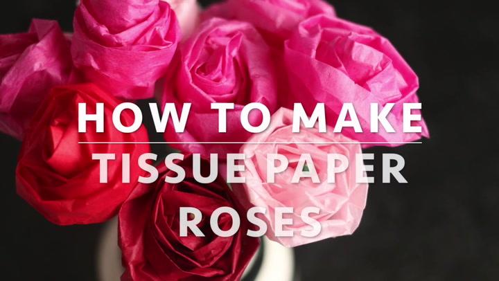 Paper flowers rose diy tutorial easy for children/origami flower ... | 406x720