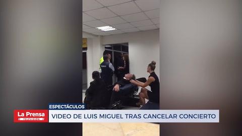 Video de Luis Miguel tras cancelar concierto indigna a sus fanáticos