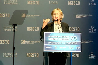 Clinton calls for building a safe bridge to a clean energy economy