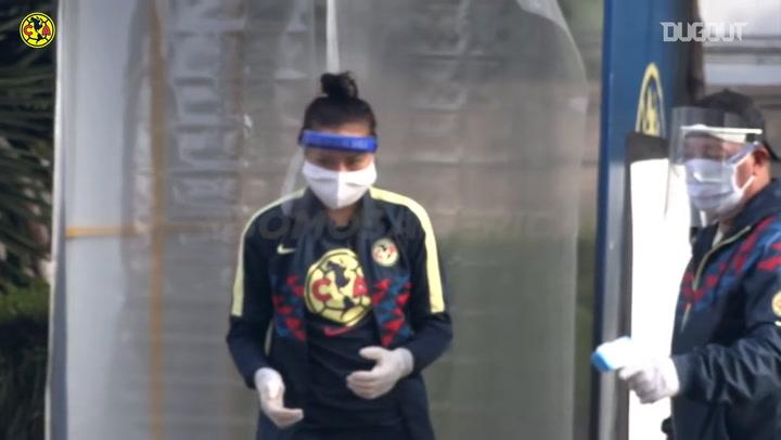 Club América Femenil return to training