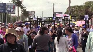 La Policía repele a opositores que protestaban contra Ortega en Nicaragua