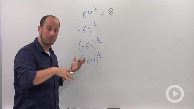 Rational Exponents with Negative Coefficients