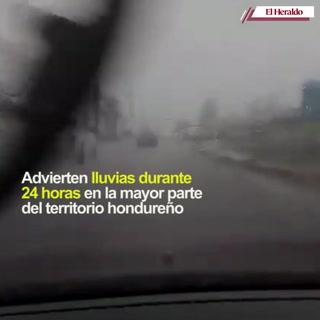 Advierten lluvias durante 24 horas en la mayor parte del territorio hondureño