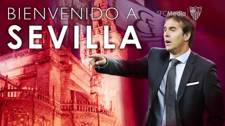 El Sevilla da la bienvenida a Julen Lopetegui
