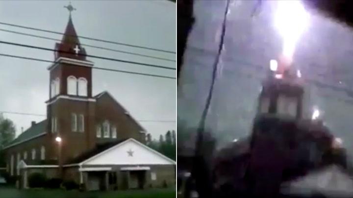 Plutselig står gnistene ut av kirkespiret