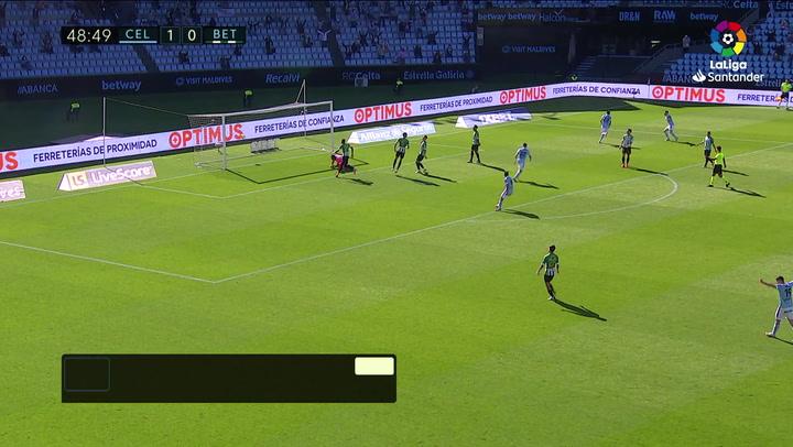 Gol de Brais Méndez (2-0) en el Celta 2-3 Betis