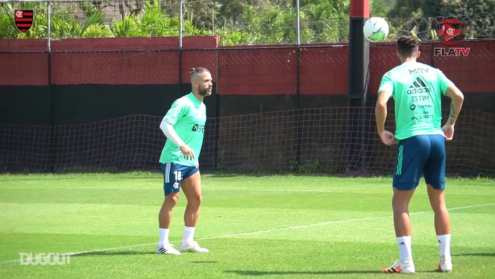Flamengo's last training session before Ceará clash