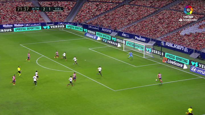 Gol de Correa (3-1) en el Atlético 3-1 Valencia