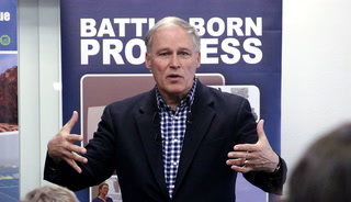 Jay Inslee talks climate change in Las Vegas