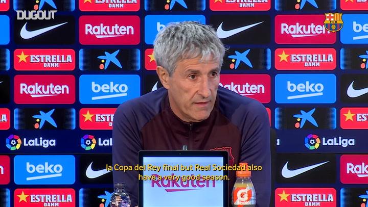 Quique Setién: 'I always think that I'm going to win'