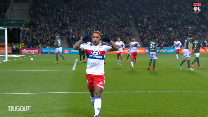 Houssem Aouar's best assists for Memphis Depay