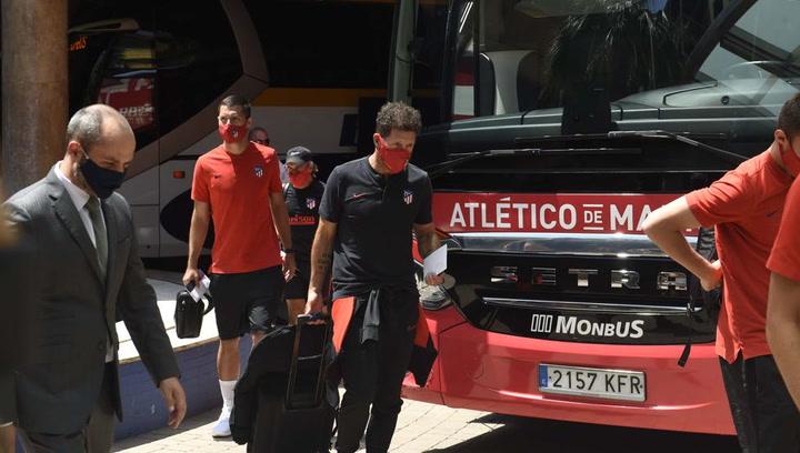 El Atlético ya está en Barcelona