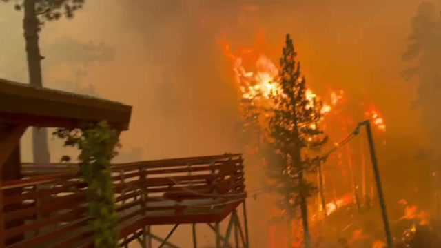 Three wildfires ignite in California as huge Caldor blaze reined in   The  Independent