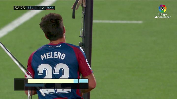Gol de Melero (1-2) en el Levante 3-3 Barcelona