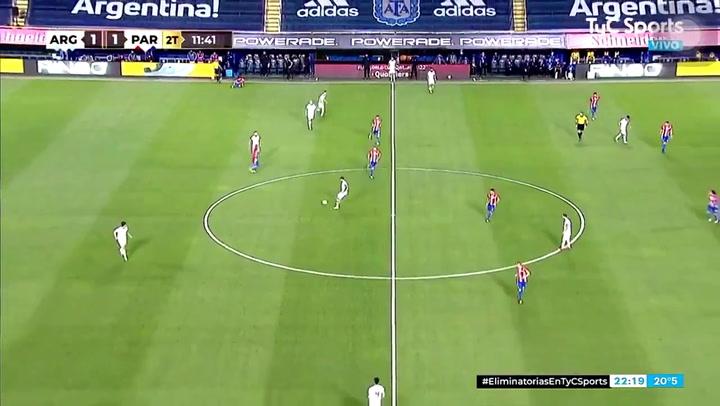27 segundos entre la falta a Romero y el gol de anulado a Messi