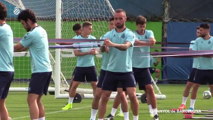 El Espanyol sigue preparando el partido contra el Lucerna