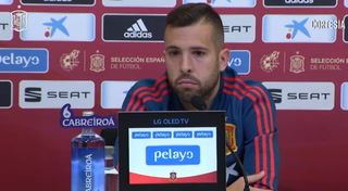 Jordi Alba niega haber tenido problemas con Luis Enrique en retorno a selección