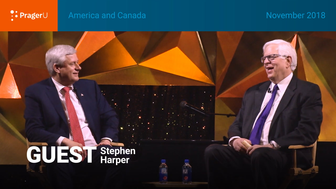 America and Canada: Dennis Prager and Stephen Harper, Gala November 2018