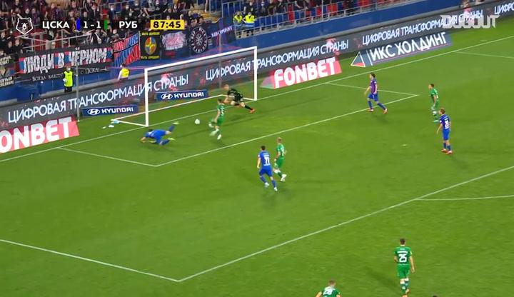 Yuri Dyupin's incredible double save against CSKA